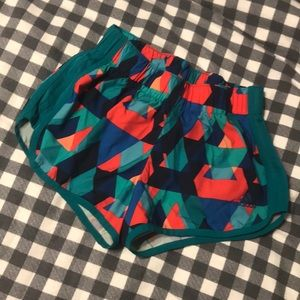 Abstract Print Adidas Shorts
